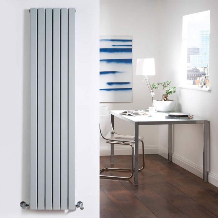 Design Heizkörper Vertikal Doppellagig Silber 1600mm x 354mm 1193W - Sloane