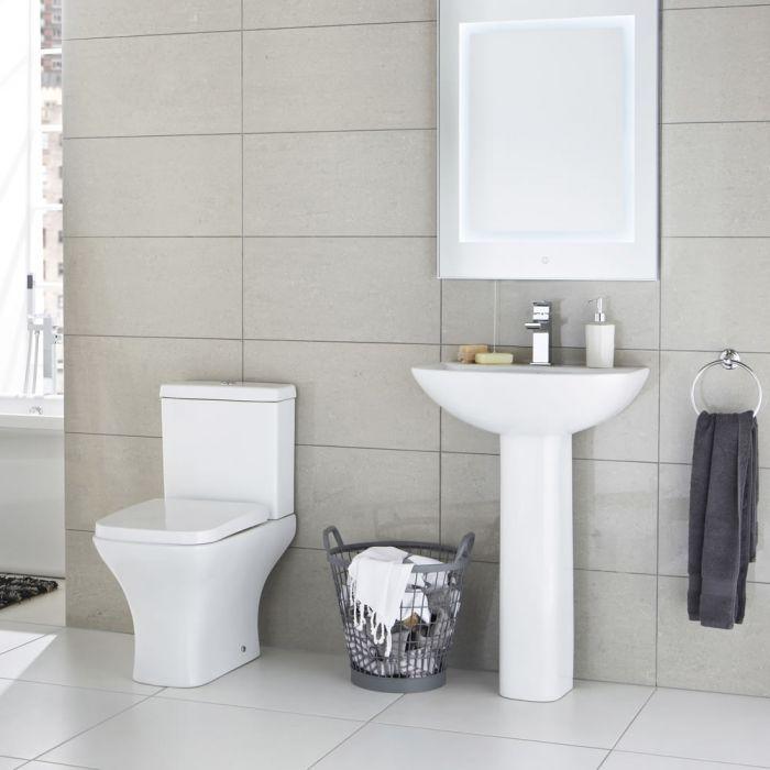 WC mit Spülkasten und Waschbecken im Set - Harrison