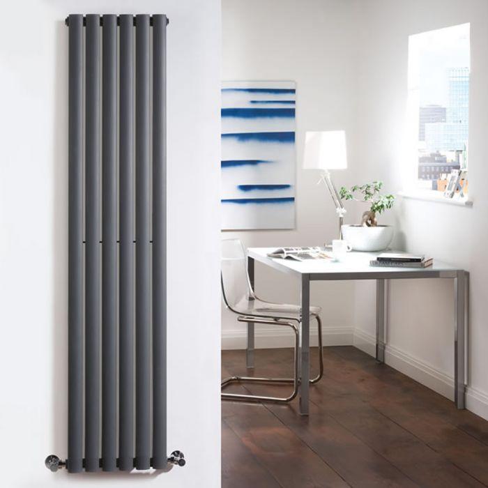 Design Heizkörper Vertikal Einlagig Anthrazit 1780mm x 354mm 892W - Revive