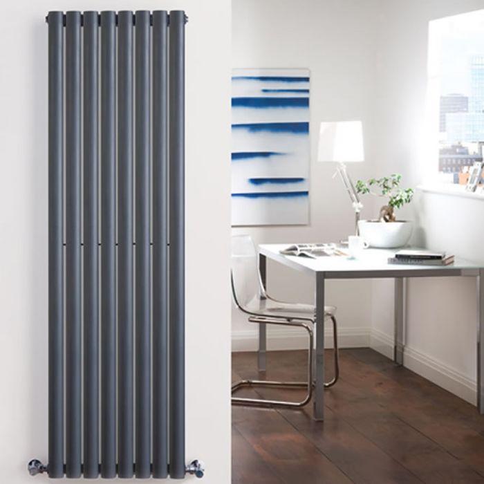 Design Heizkörper Vertikal Doppellagig Anthrazit 1780mm x 472mm 1868W - Revive