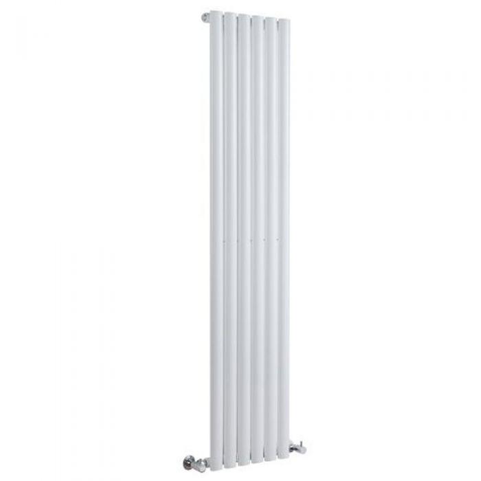 Design Heizkörper Vertikal Einlagig Weiß 1780mm x 354mm 892W - Revive