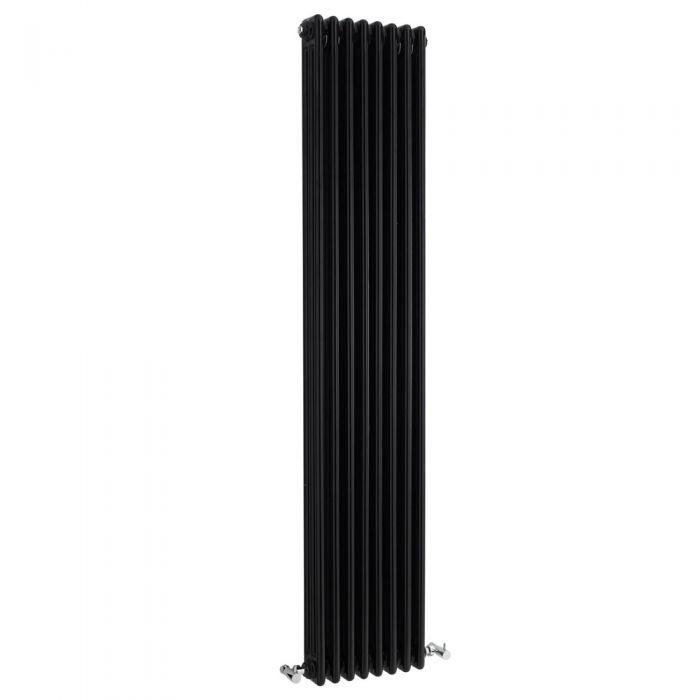 Gliederheizkörper Vertikal 3 Säulen Nostalgie Schwarz 1800mm x 381mm 1558W - Regent
