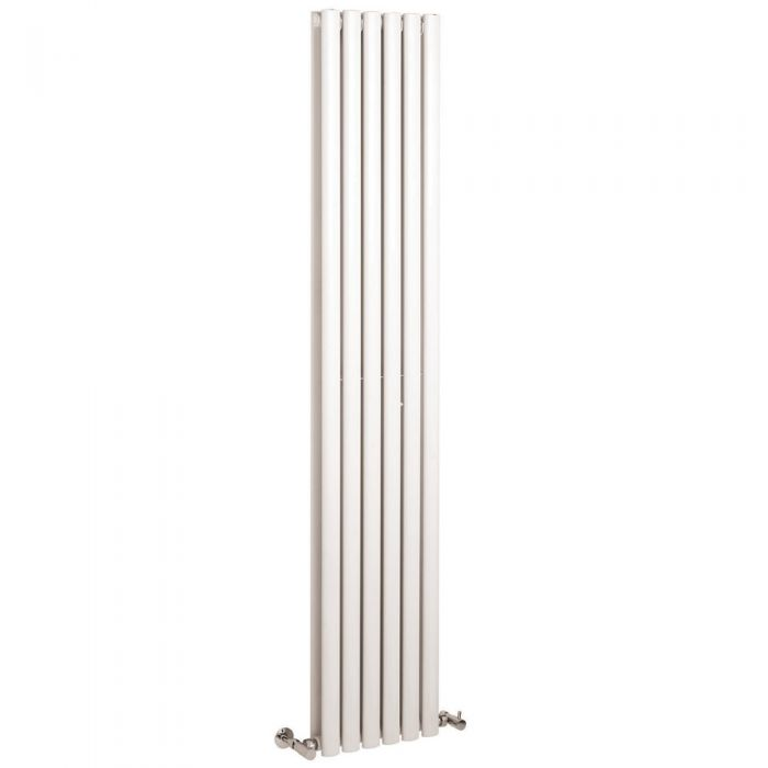 Design Heizkörper Vertikal Doppellagig Weiß 1800mm x 354mm 1351W - Revive
