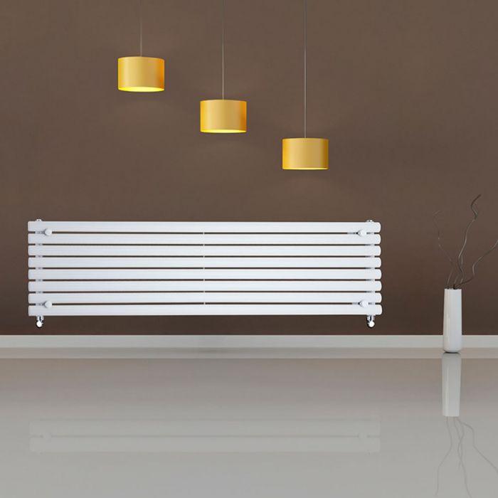 Design Heizkörper Horizontal Einlagig Weiß 472mm x 1780mm 1162W - Revive