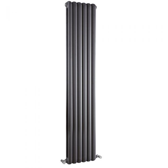 Gliederheizkörper Vertikal 2 Säulen Nostalgie Anthrazit 1800mm x 383mm 1964W - Salvia