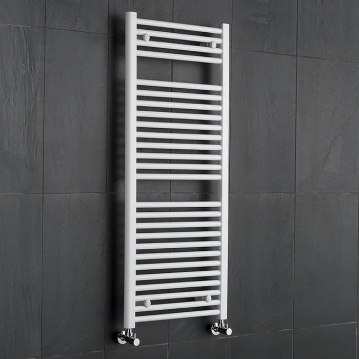 Handtuchheizkörper Weiß 1200mm x 500mm 686W - Etna