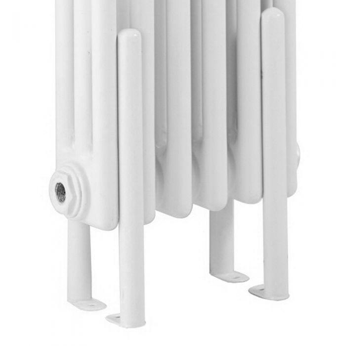 Bodenfüße für weiße Gliederheizkörper mit 2 Säulen