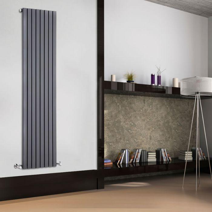 Design Heizkörper Vertikal Einlagig Anthrazit 1780mm x 472mm 1196W - Sloane