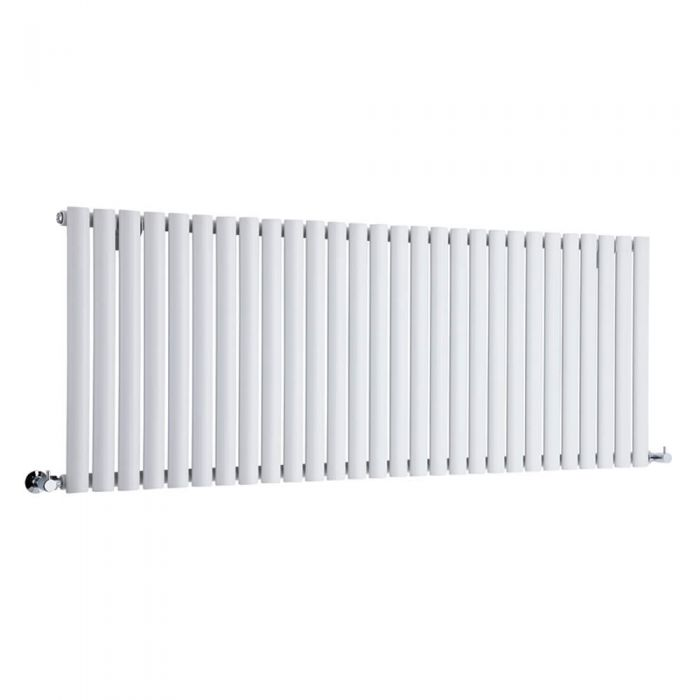 Design Heizkörper Horizontal Einlagig Weiß 635mm x 1647mm 1671W - Revive
