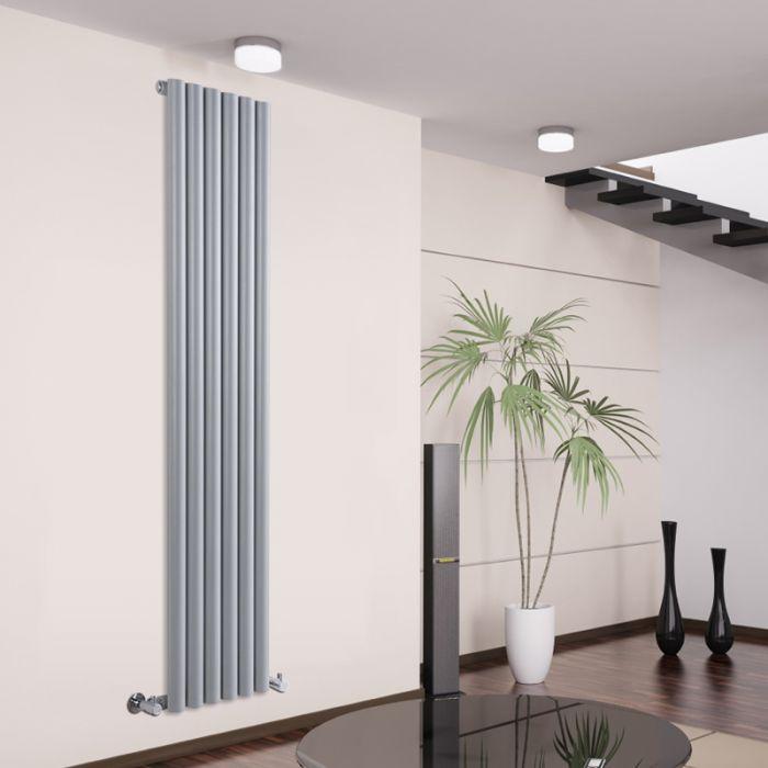 Design Heizkörper Vertikal Einlagig Silber 1780mm x 354mm 1043W - Savy
