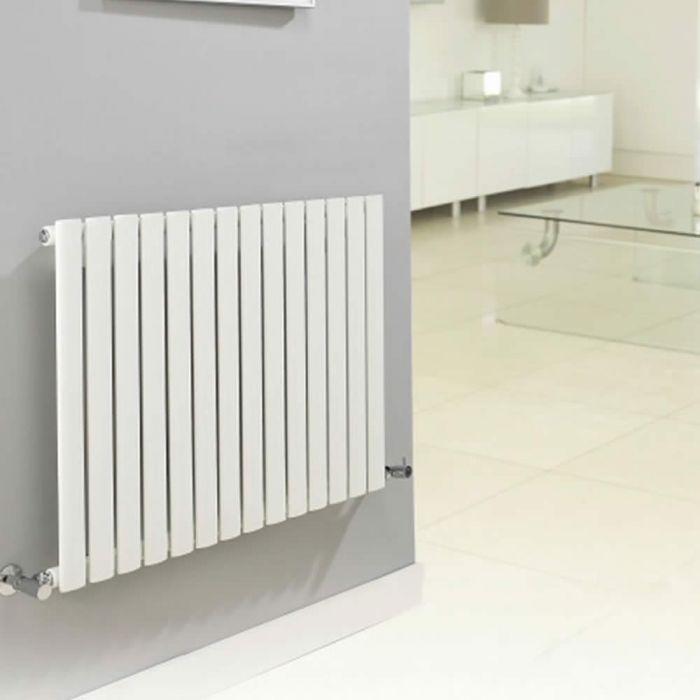 Design Heizkörper Horizontal Einlagig Weiß 635mm x 1180mm 1194W - Revive
