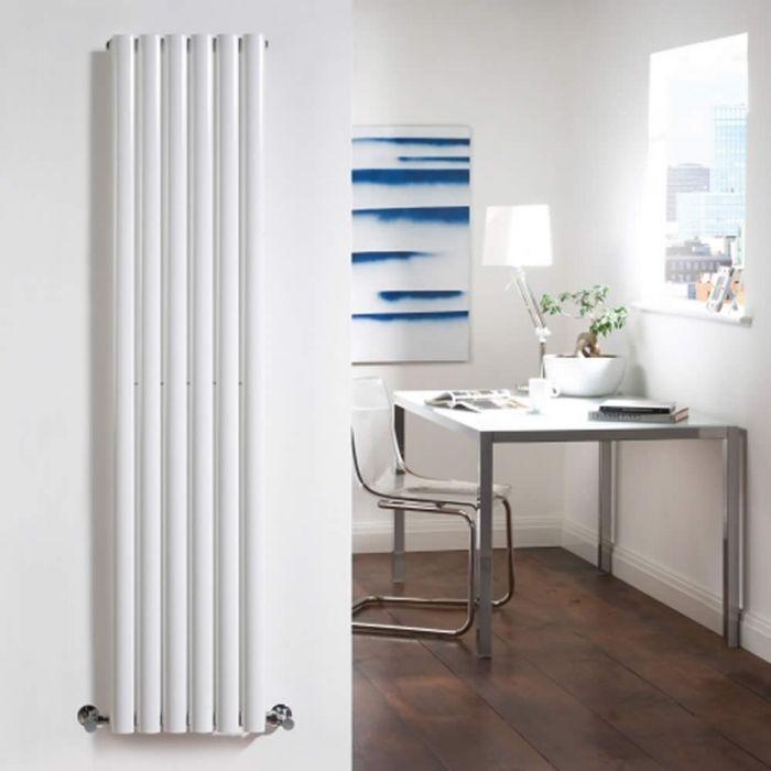 Design Heizkörper Vertikal Einlagig Weiß 1600mm x 354mm 841W - Revive