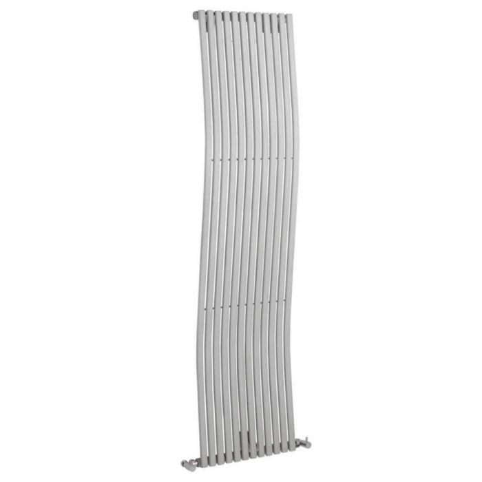 Design Heizkörper Vertikal Einlagig Silber 1600mm x 456mm 1185W - Palero