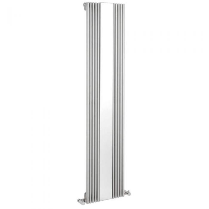 Design Heizkörper Vertikal Einlagig mit Spiegel Weiß 1600mm x 420mm 840W - Keida