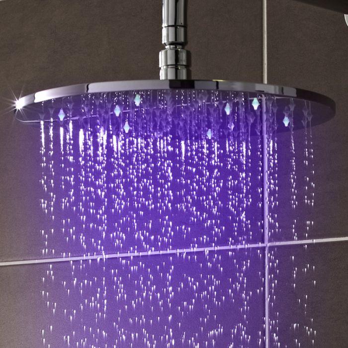 Duschkopf Rund mit LED-Licht 30 cm