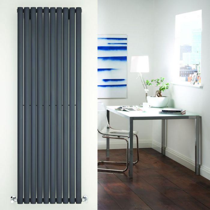 Design Heizkörper Vertikal Einlagig Anthrazit 1780mm x 590mm 1487W - Revive
