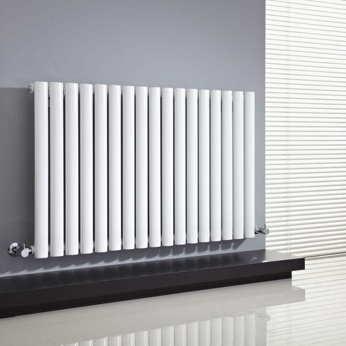 Design Heizkörper Horizontal Einlagig Weiß 635mm x 1000mm 1015W - Revive