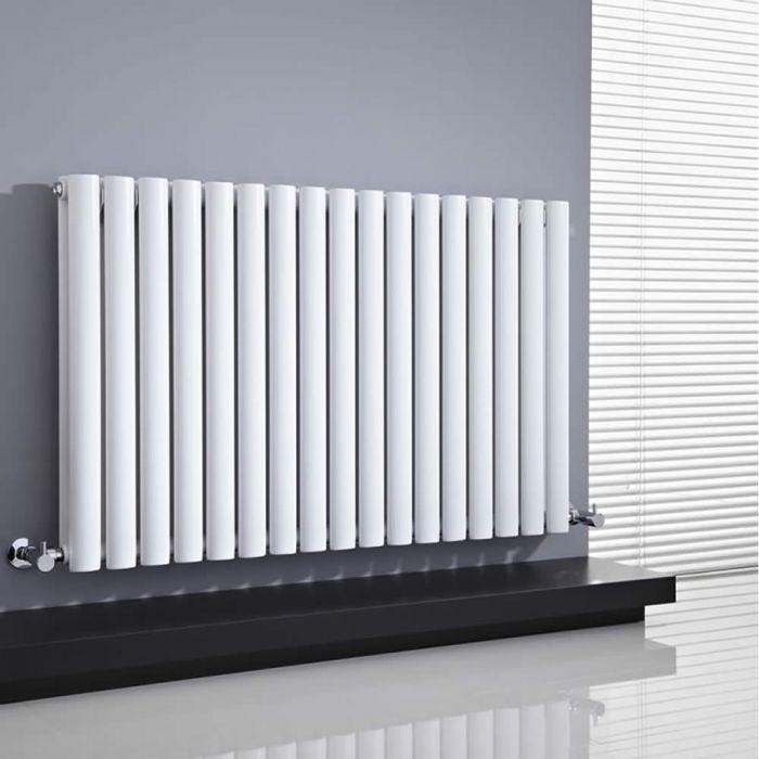 Design Heizkörper Horizontal Doppellagig Weiß 635mm x 1000mm 1584W - Revive