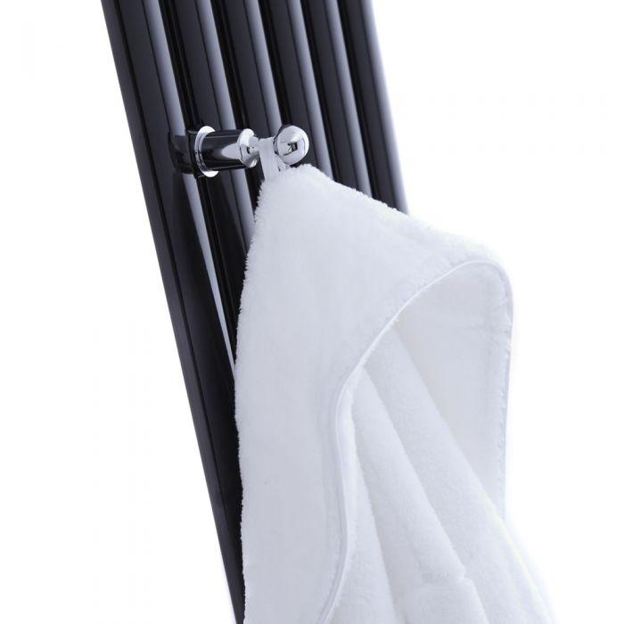 Chrom Kleiderhacken für Vertikale Revive Design Heizkörper