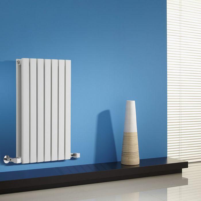 Design Heizkörper Horizontal Doppellagig Weiß 635mm x 420mm 653W - Sloane