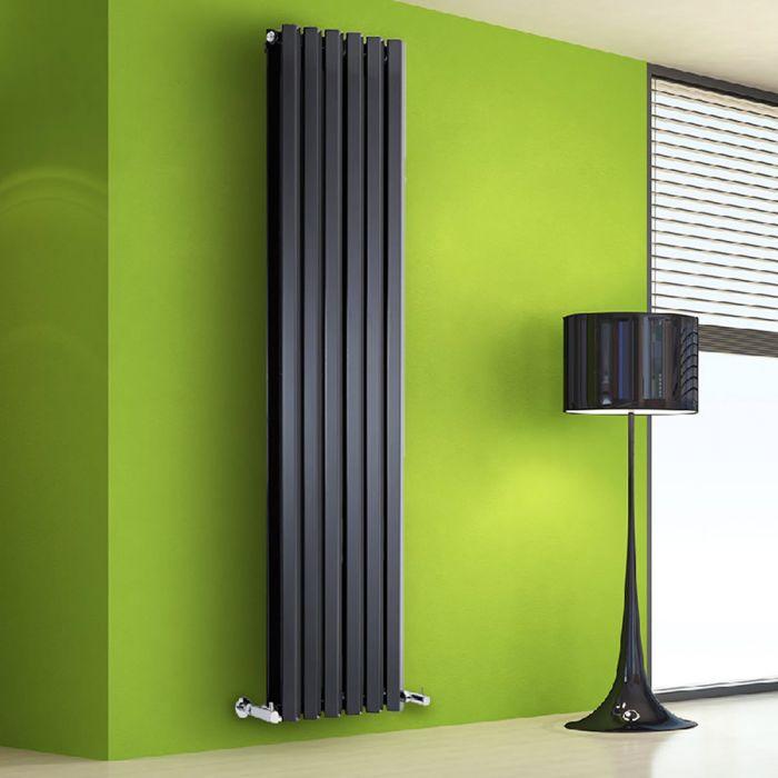 Design Heizkörper Vertikal Doppellagig Schwarz 1780mm x 420mm 1618W - Vital