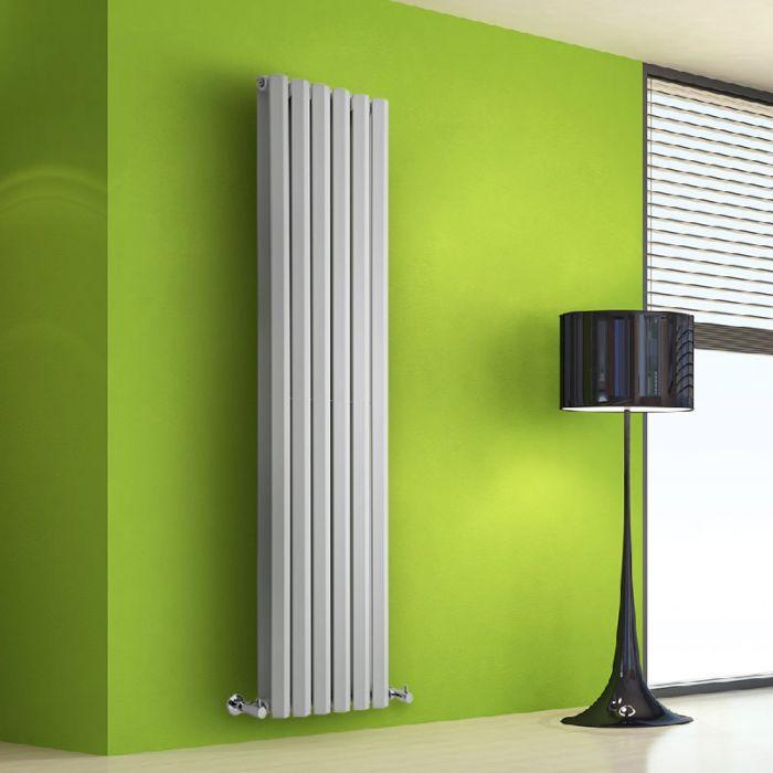 Design Heizkörper Vertikal Doppellagig Weiß 1600mm x 420mm 1475W - Vital