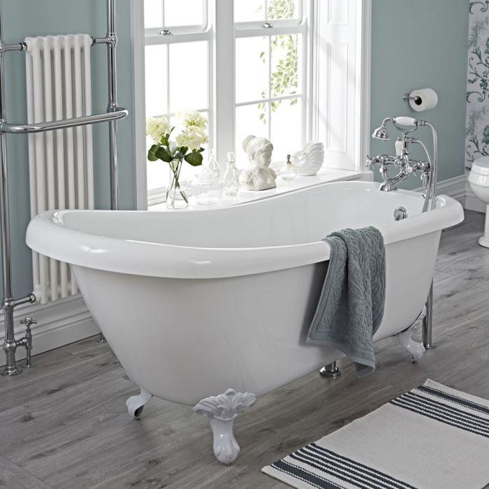Freistehende Badewanne Roma mit auswählbaren Füßen