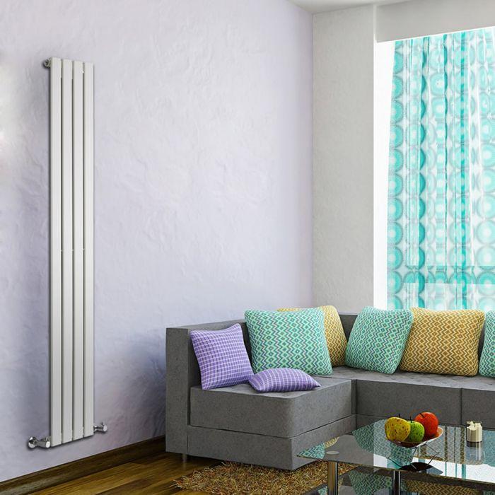 Design Heizkörper Vertikal Einlagig Weiß 1780mm x 280mm 658W - Delta