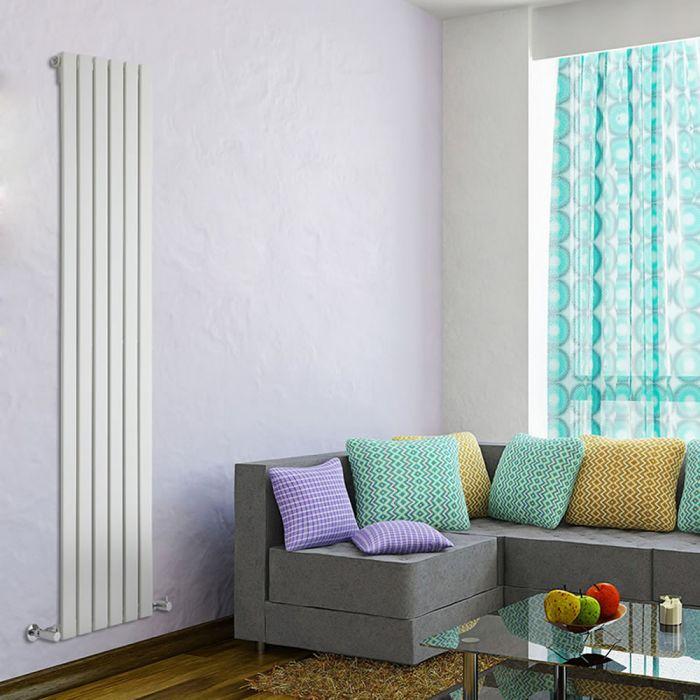 Design Heizkörper Vertikal Einlagig Weiß 1780mm x 420mm 987W - Delta