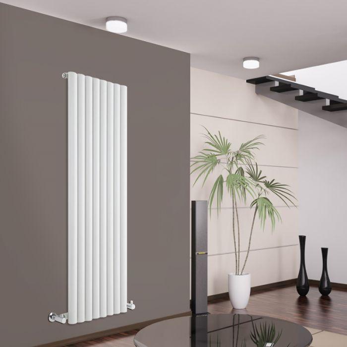 Design Heizkörper Vertikal Einlagig Weiß 1600mm x 472mm 1278W - Savy