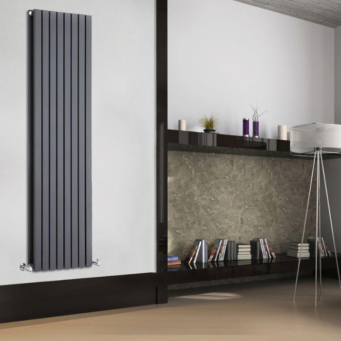 Design Heizkörper Vertikal Doppellagig Anthrazit 1780mm x 472mm 1931W - Sloane