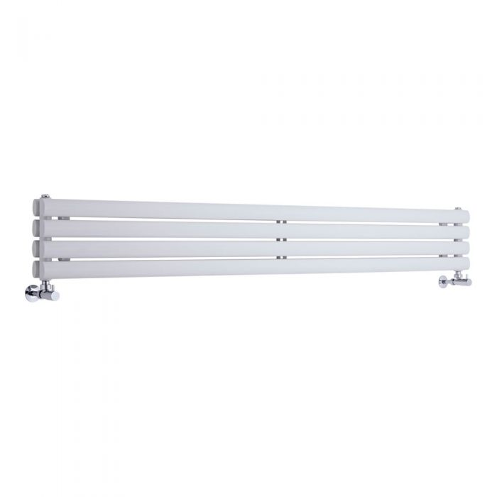 Design Heizkörper Horizontal Doppellagig Weiß 236mm x 1600mm 815W - Revive