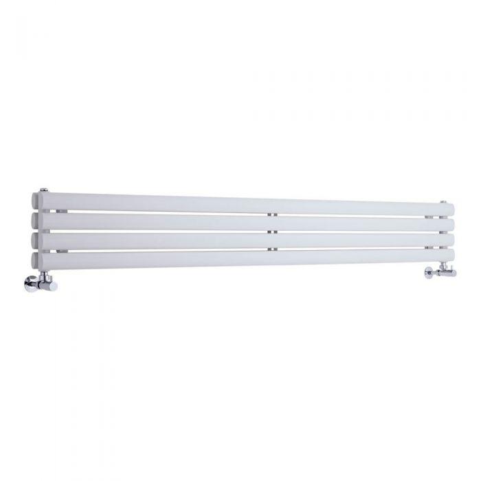 Design Heizkörper Horizontal Doppellagig Weiß 236mm x 1780mm 921W - Revive