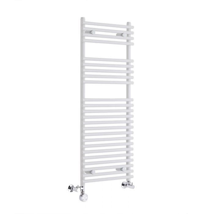 Handtuchheizkörper Mischbetrieb Weiß 1150mm x 450mm 412W - Etna