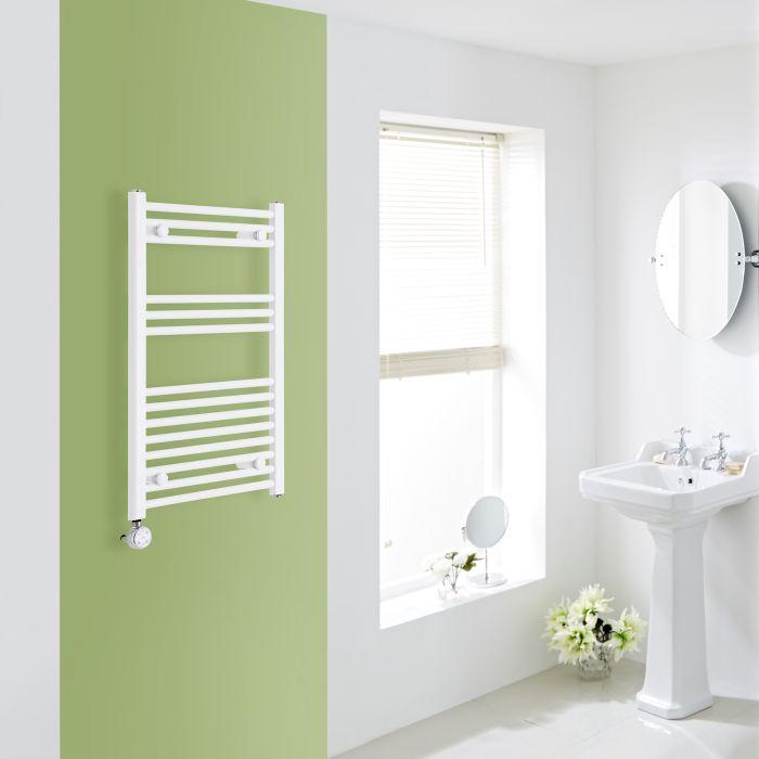 Elektrischer Handtuchheizkörper Weiß 800mm x 500mm inkl. ein 600W Heizelement - Etna