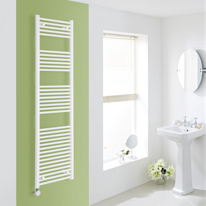 Elektrischer Handtuchheizkörper Weiß 1800mm x 500mm inkl. ein 1000W Heizelement - Etna