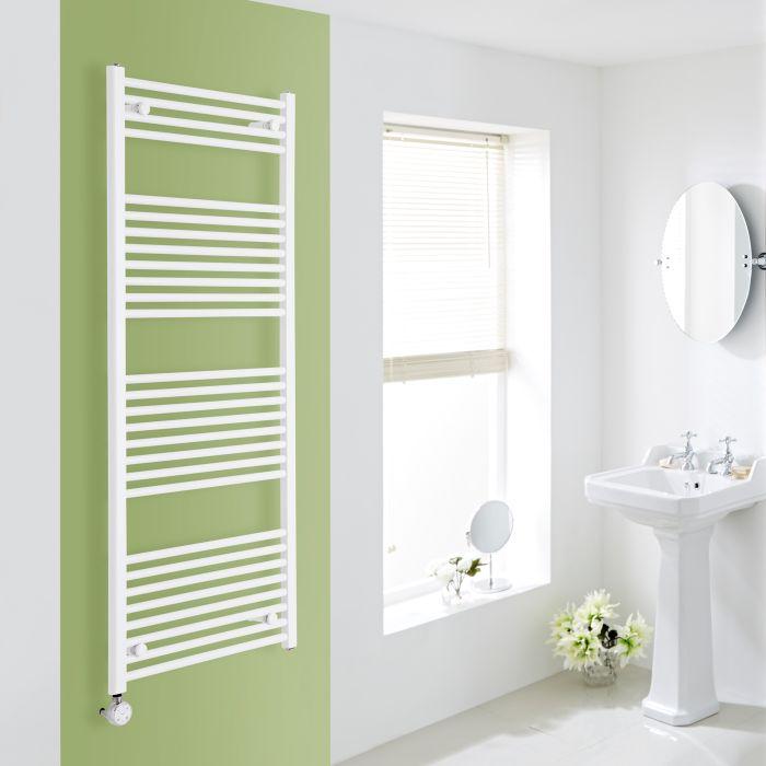 Elektrischer Handtuchheizkörper Weiß 1500mm x 600mm inkl. ein 1000W Heizelement - Etna