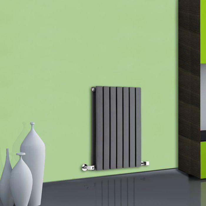 Design Heizkörper Horizontal Doppellagig Anthrazit 635mm x 420mm 653W - Sloane