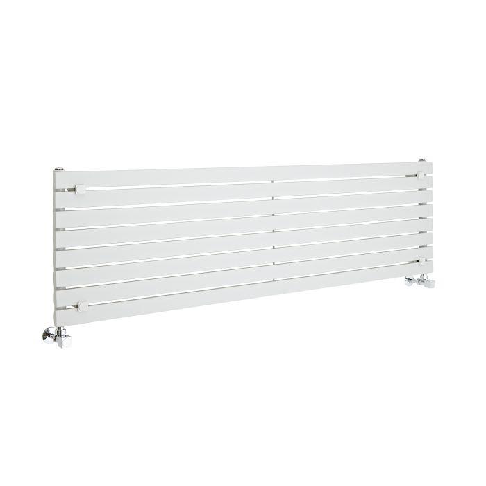 Design Heizkörper Horizontal Einlagig Weiß 472mm x 1600mm 1043W - Sloane