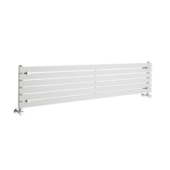 Design Heizkörper Horizontal Einlagig Weiß 354mm x 1600mm 773W - Sloane