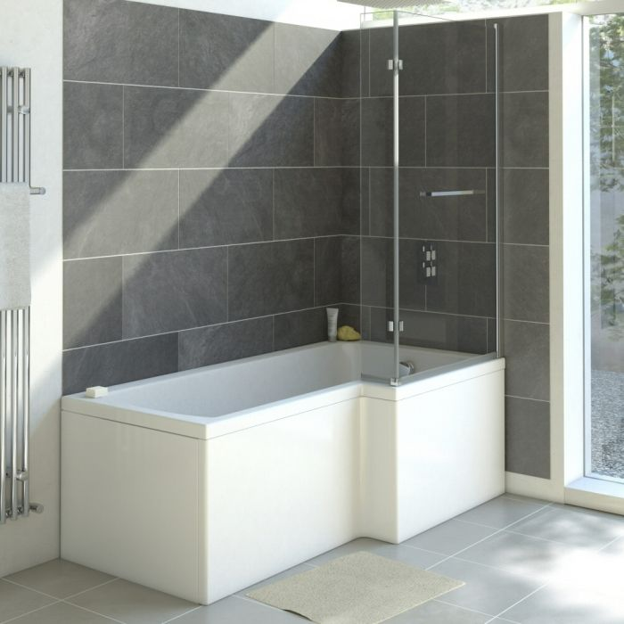 Moderne Dusch- und Badewanne für die rechte Ecke 1700mm - ohne Paneel