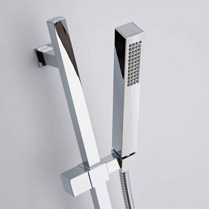 Duschstange Kubix mit quadratischer Handbrause aus ABS
