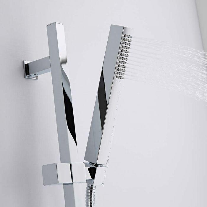Duschstange Kubix mit wassersparender Handbrause