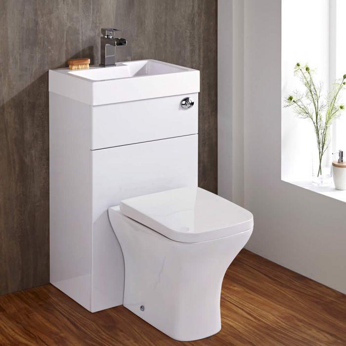 Kombination aus Toilette mit Spülkasten und integriertem Waschbecken