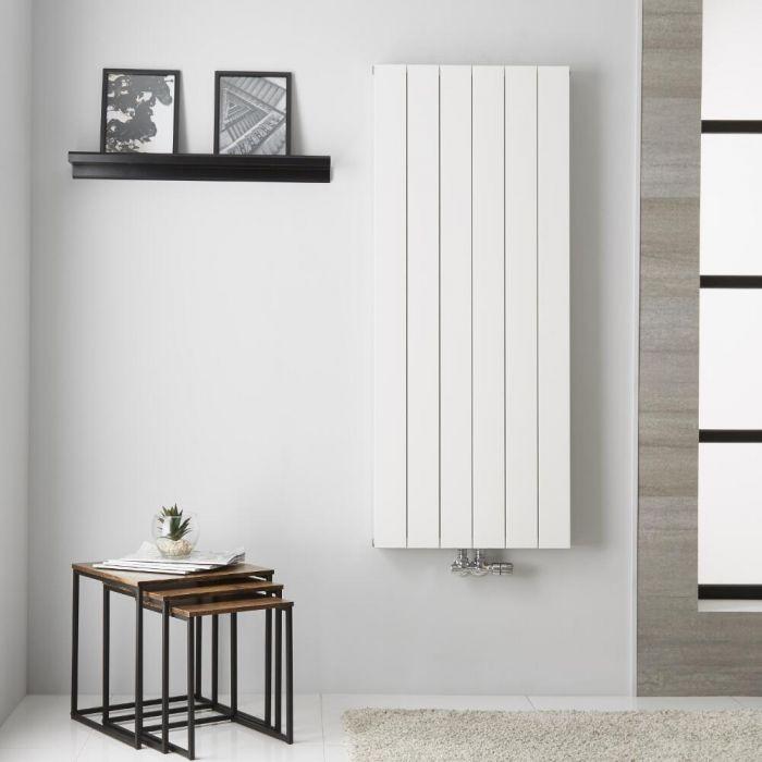 Design Heizkörper Aluminium Doppellagig Vertikal Weiß 1400mm x 565mm - Kett