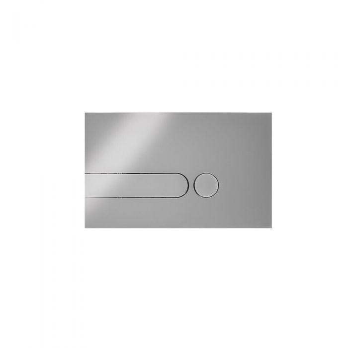 Betätigungsplatte Zweimengentechnik Runde Tasten Chrome 150mm x 240mm - Cluo