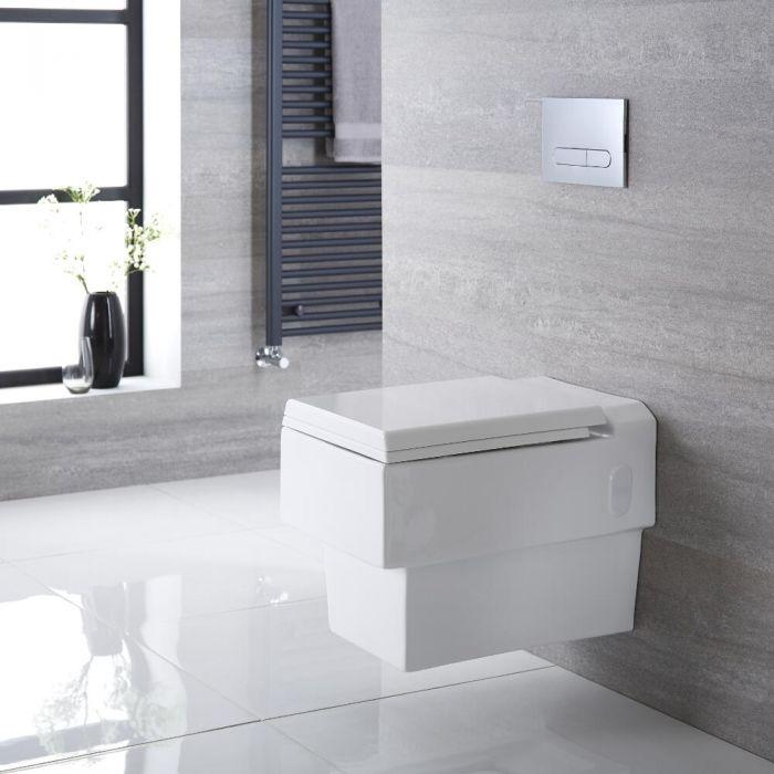 Hänge WC Quadratisch Sitz mit Absenkautomatik - Haldon