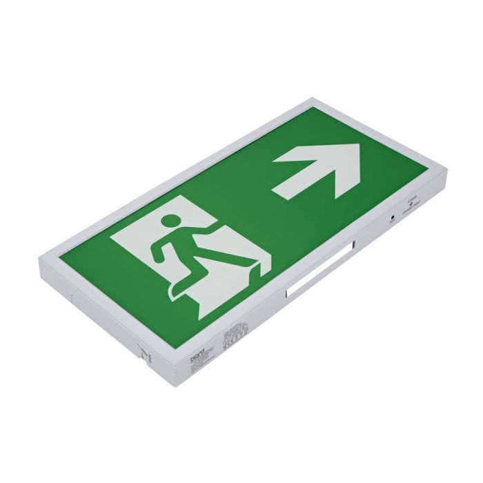 Biard LED Notausgangsleuchte Slim Dauerschaltung oder Betriebsschaltung - Pfeilrichtung Wählbar