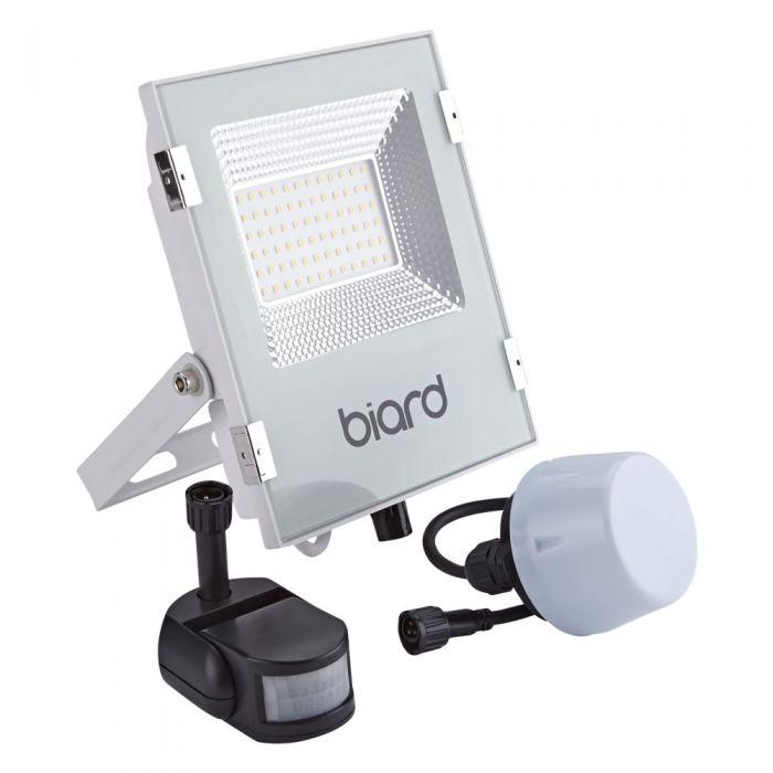 Biard 30W LED Fluter Slimline mit wahlweise Infrarot Bewegungsmelder oder Dämmerungssensor - Weiß