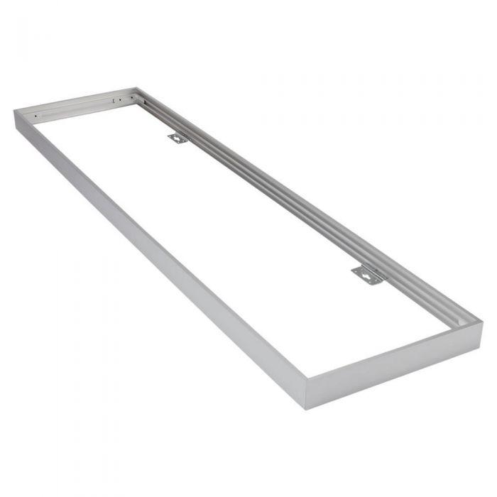 Biard Rahmen zur Oberflächenmontage, 30x120cm LED Paneellleuchte, Silber